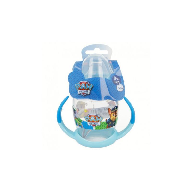 Чаша за малки деца с две дръжки и силиконов накрайник за пиене с картинка paw patrol  8808