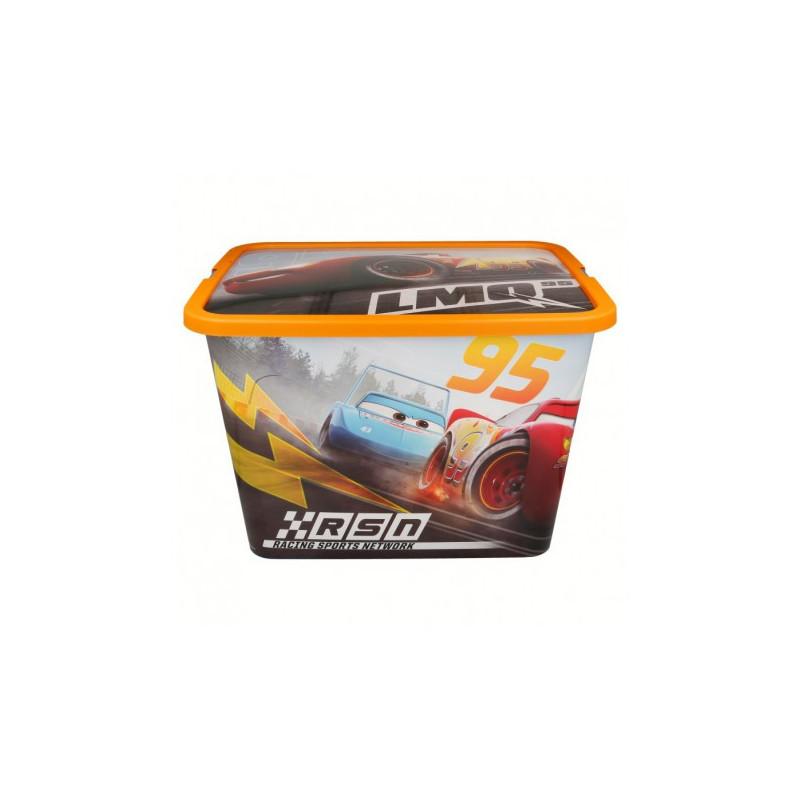 Кутия за съхранение с щракване за защита, Колите, 23 литра  8872