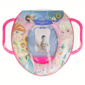 Мини wc седалка за деца с дръжки и картинка Frozen 8896