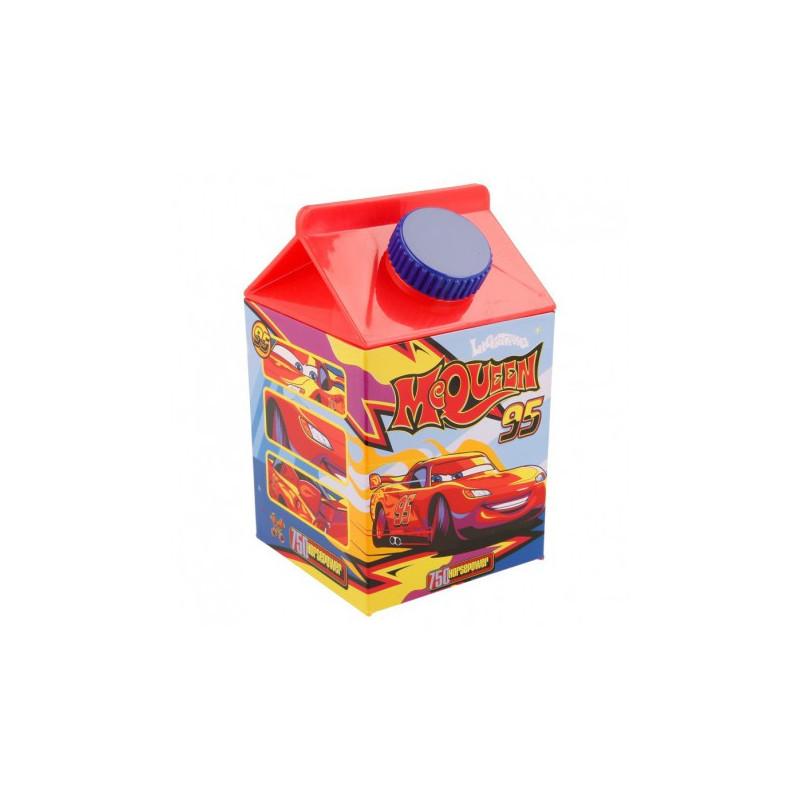 Пластмасова квадратна бутилка с картинка, McQueen, 460 мл  8929