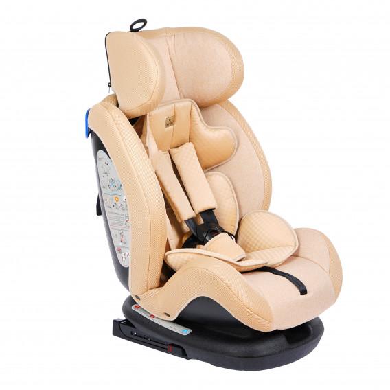 стол за кола с регулиране на облегалката RIALTO Isofix BEIGE унисекс Lorelli 89568 2
