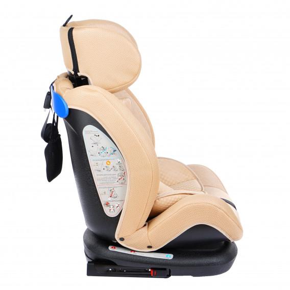 стол за кола с регулиране на облегалката RIALTO Isofix BEIGE унисекс Lorelli 89569 3