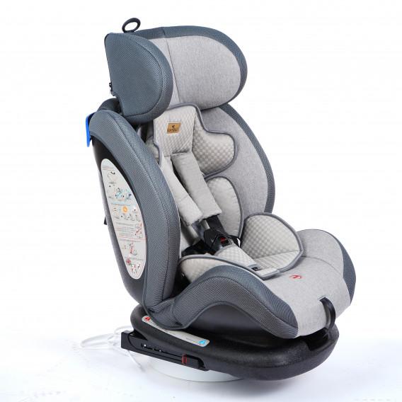 стол за кола с регулиране на облегалката RIALTO Isofix GREY унисекс Lorelli 89577 2