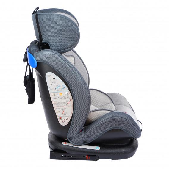 стол за кола с регулиране на облегалката RIALTO Isofix GREY унисекс Lorelli 89578 3