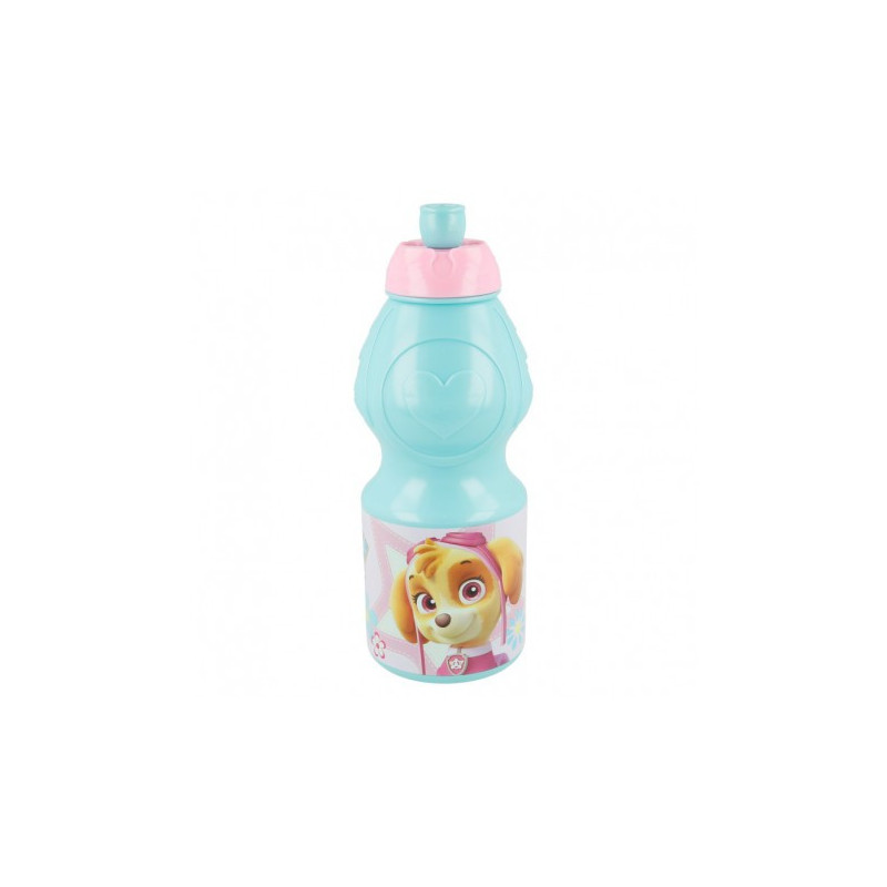 Пластмасова спортна бутилка с картинка, Girl Pup Power, 400 мл  8967