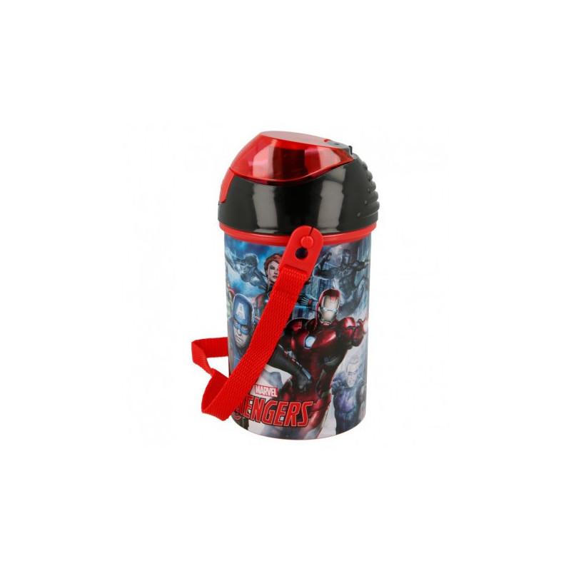 Пластмасова бутилка с картинка, Heroes, 450 мл  8978
