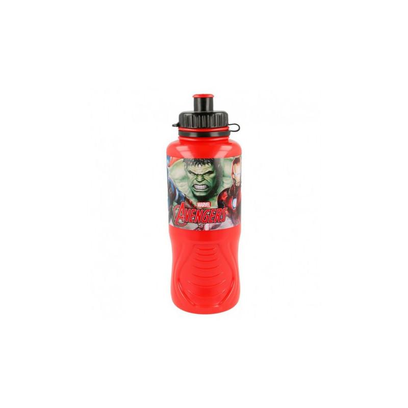 Пластмасова ерго спортна бутилка с картинка, Heroes, 400 мл  8988