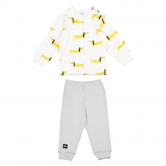 Памучна пижама с дълъг ръкав за бебе - унисекс Pinokio 94485
