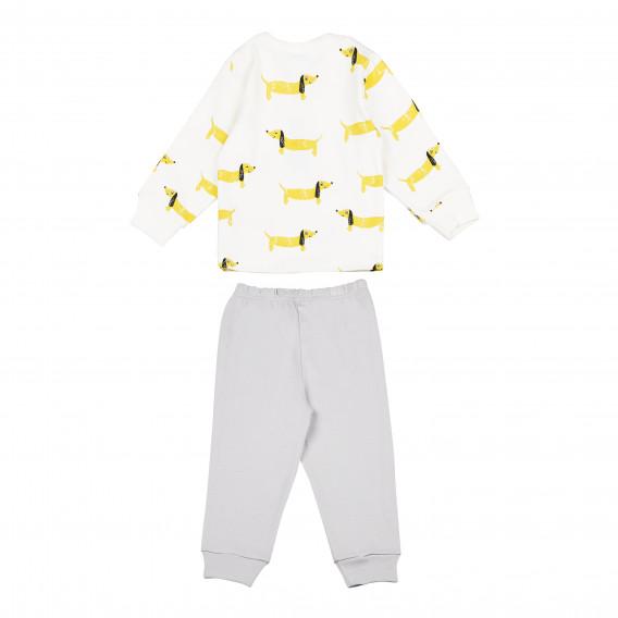 Памучна пижама с дълъг ръкав за бебе - унисекс Pinokio 94489 5