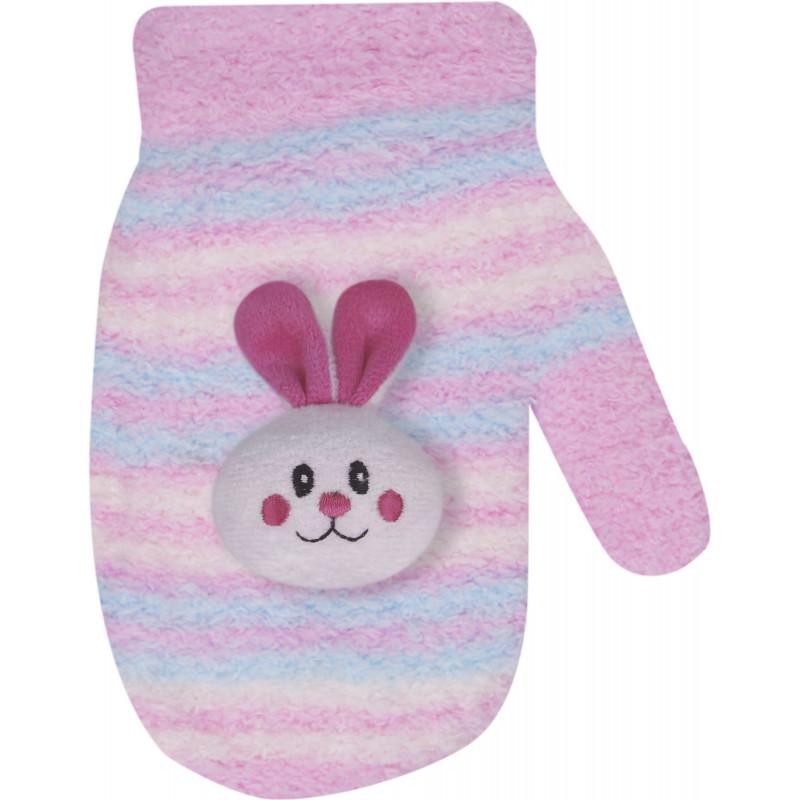 Ръкавици за момиче на райета и различни апликации на животни  9496