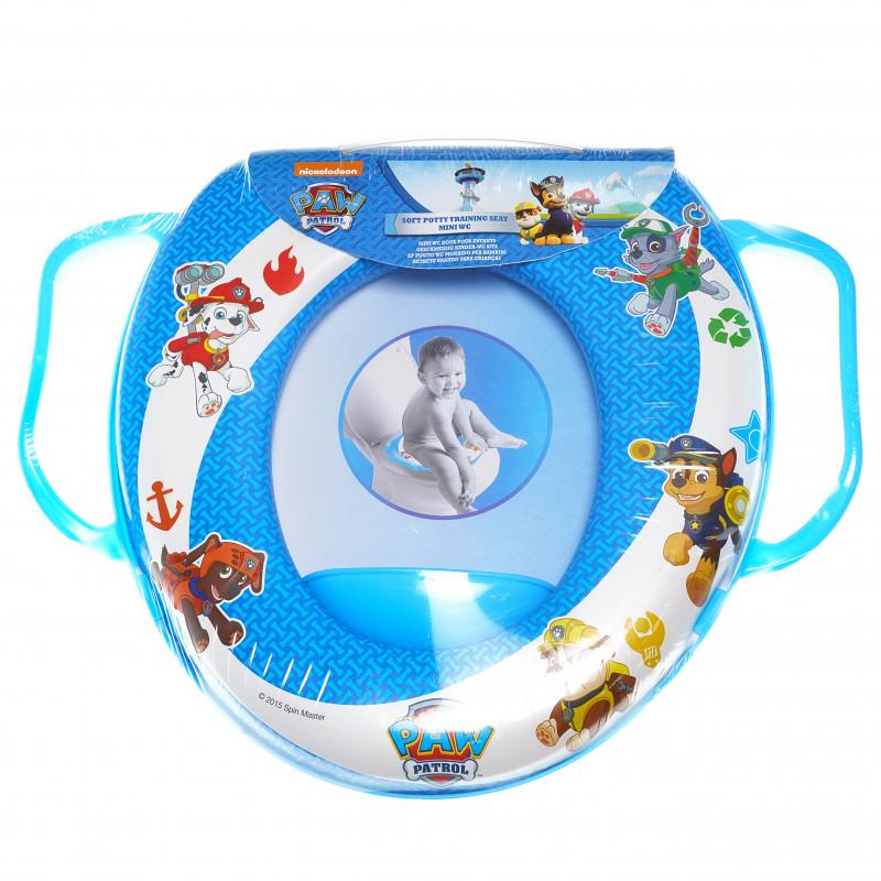 Мини wc седалка за деца с дръжки и картинка paw patrol в син цвят  94989