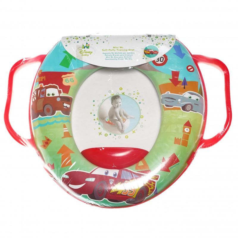 Мини wc седалка за деца с дръжки и картинка на Cars  95026