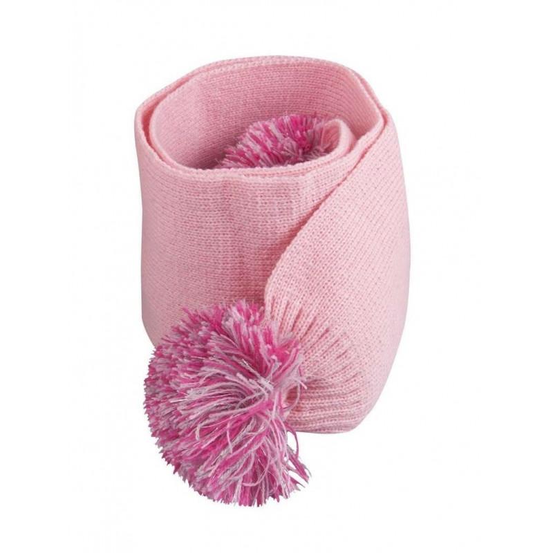 Розов шал за момиче с помпон  9568