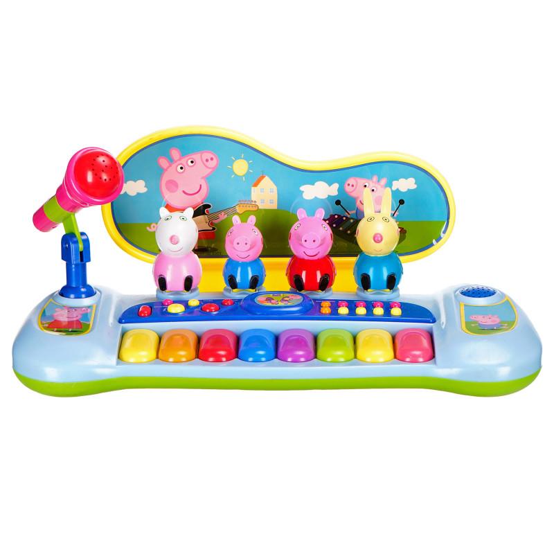 Електронно пиано с микрофон и 8 цветни клавиша  96122
