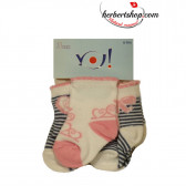 Комплект бебешки чорапи за момиче YO! 9631