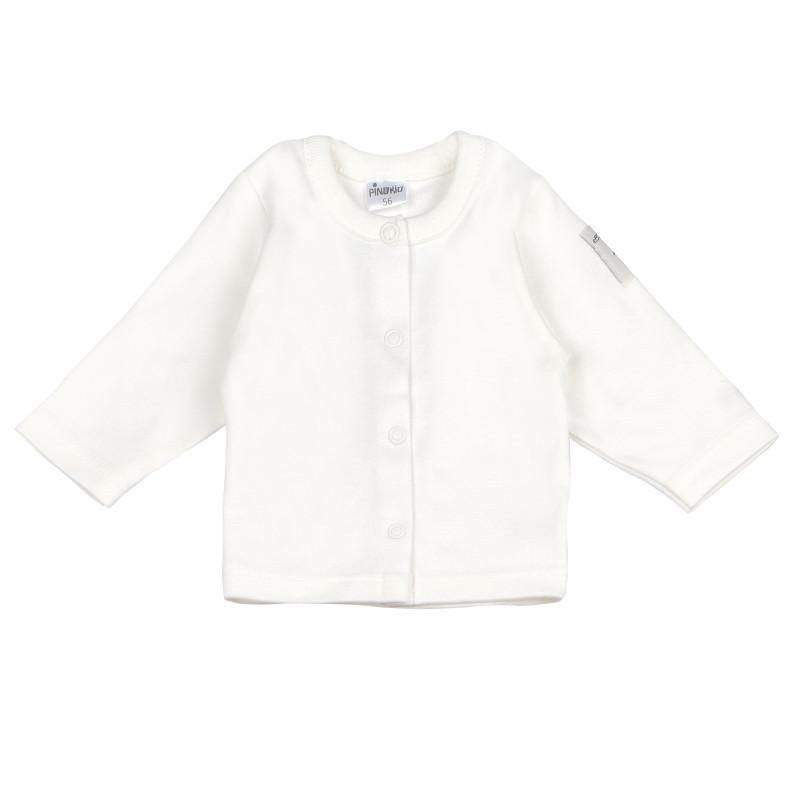 Памучна жилетка с дълъг ръкав за бебе - унисекс  96871