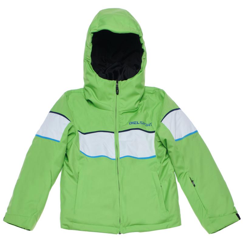 Ски яке с бели и сини ленти за момче зелено  96980