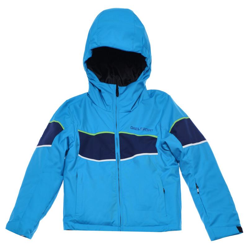Ски яке с цветни кантове за момче синьо  96983