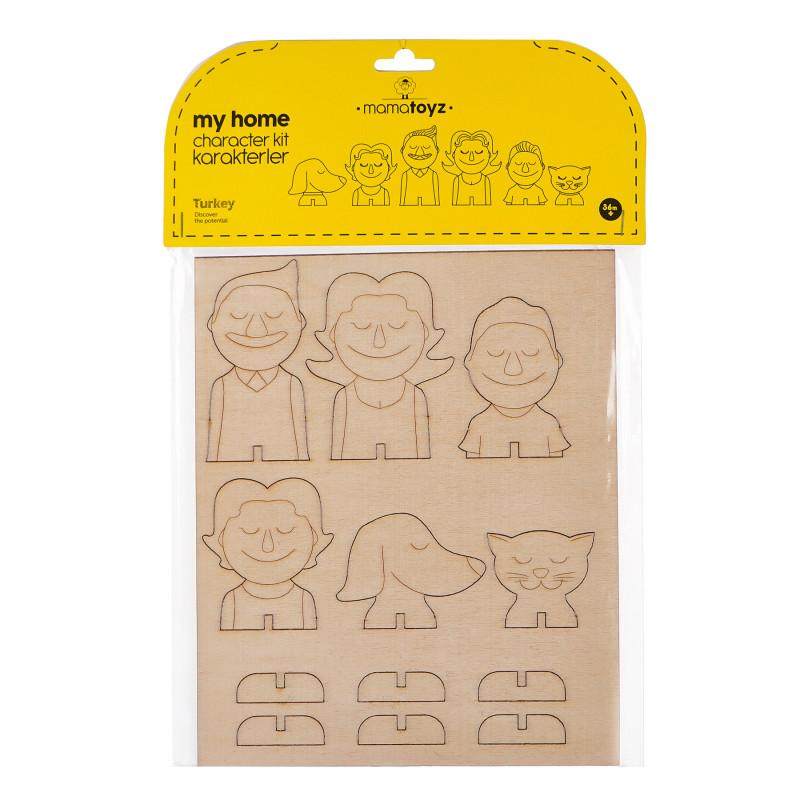 Комплект мебели за дървена къща за кукли, 12 части  97288