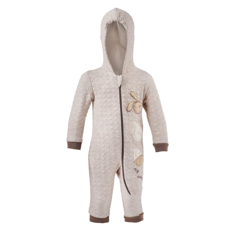 Гащеризон с качулка и дълъг ръкав за бебе - унисекс  97544
