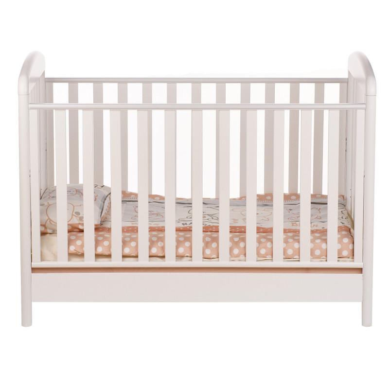 Бебешко креватче, с решетки и регулация на две степени, 106х71х133 см.  97635
