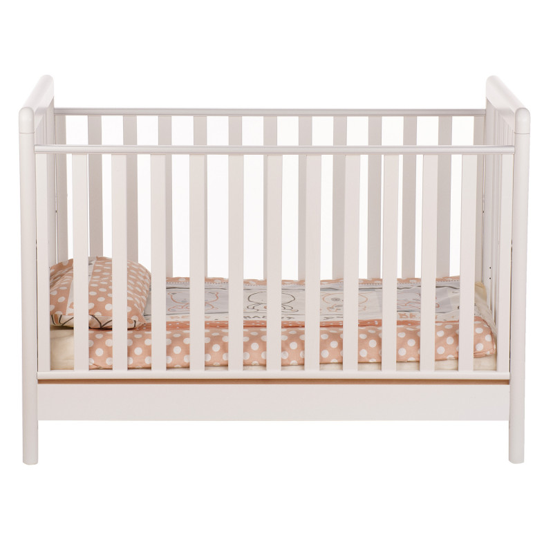 Бебешко креватче, бяло и бежово, 106х71х133 см.  97643