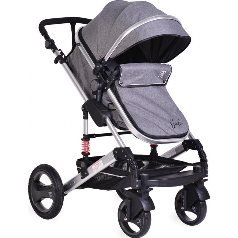 Комбинирана детска количка Gala 2 в 1 Premium, тъмносива  97778