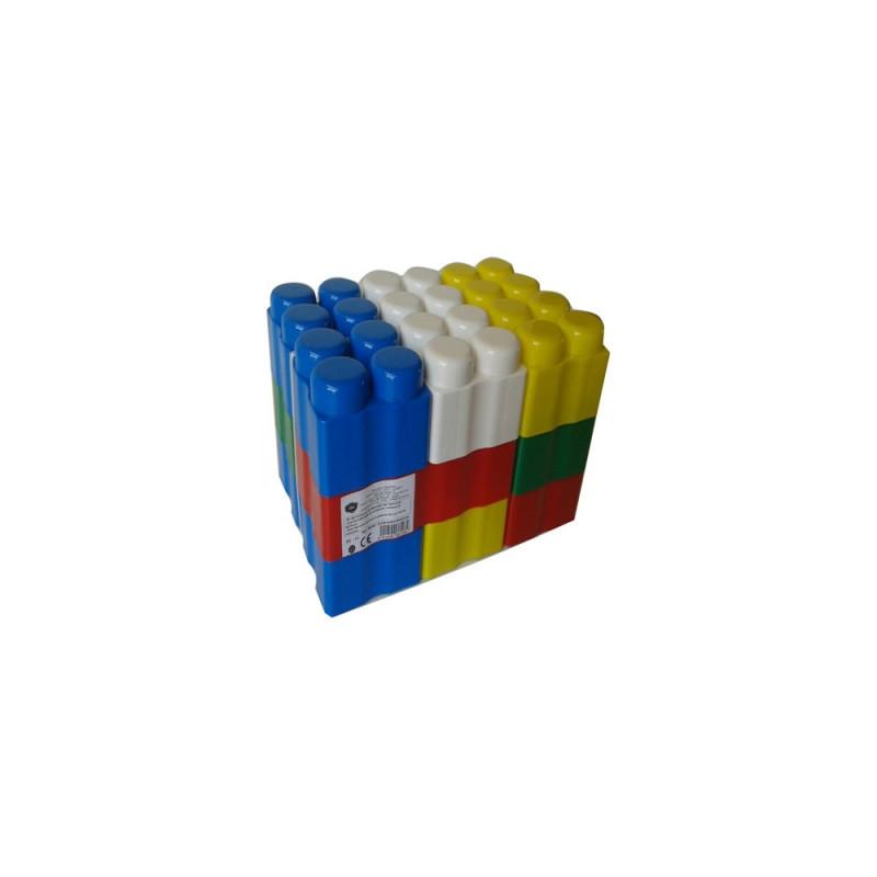 Конструктор едри цветни фигури 9  9892