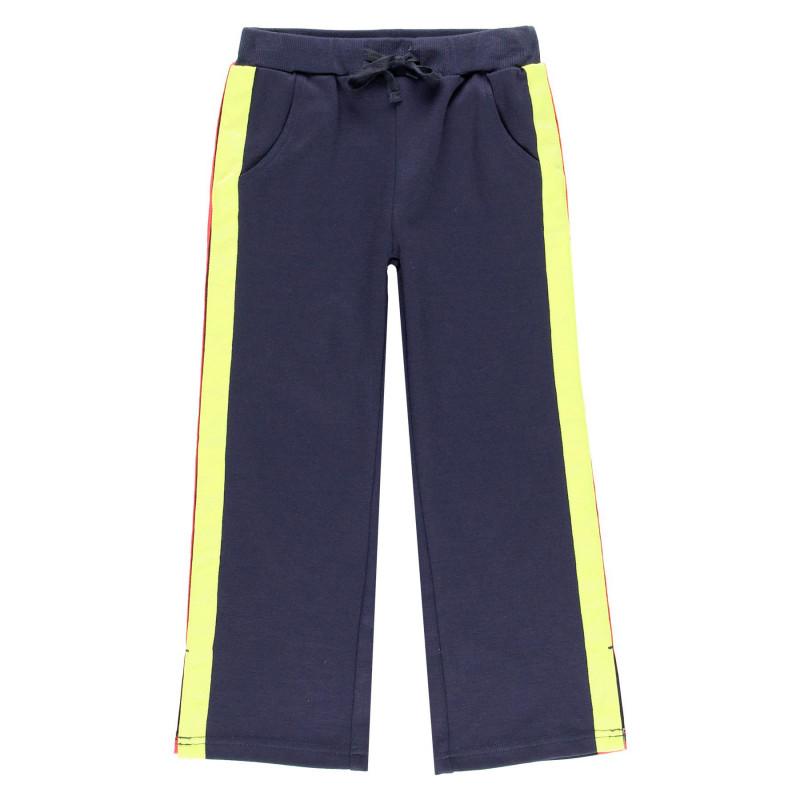 Панталон за момиче с шарен кант  99148
