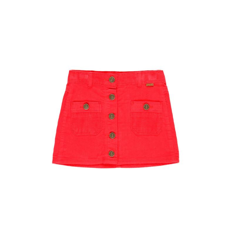 Памучна пола за момиче с метални копчета  99219