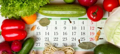 Vegetables,and,fruits,around,the,calendar,,concept,of,proper,healthy