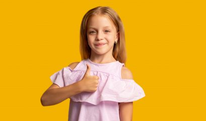 Like,gesture.,satisfied,child.,perfect,choice.,encouragement,greeting.,portrait,of