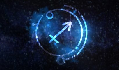 Astrology,sign,sagittarius,against,starry,sky
