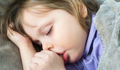 Sleeping,little,cute,baby,sucking,thumb