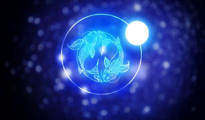Astrology,sign,pisces,against,starry,sky