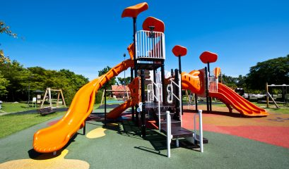 playgrounds,in,park,and,nice,blue,sky
